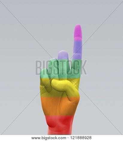 Rainbow Finger Point