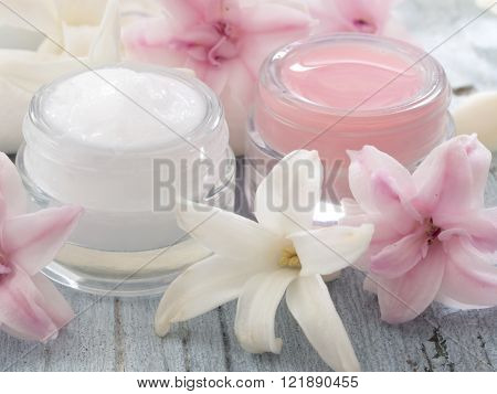 natural cosmetics, fresh as spring flowers