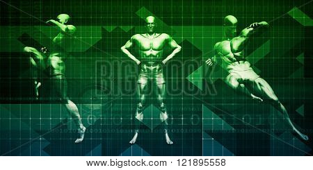 Sports Background and Physical Combat as Abstract