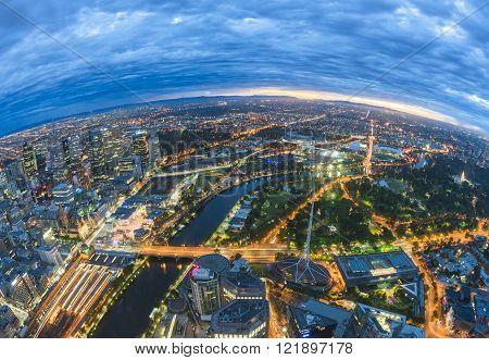 City before sunrise
