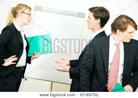 Business team in the midst of an argument
