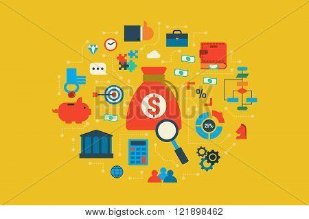 Budget Illustration Concept