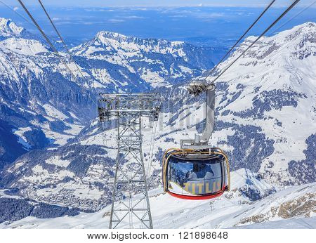 Mt. Titlis Switzerland - 9 March 2016: