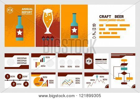 Craft Beer Company Annual Report Cover A4 Sheet And Presentation Template