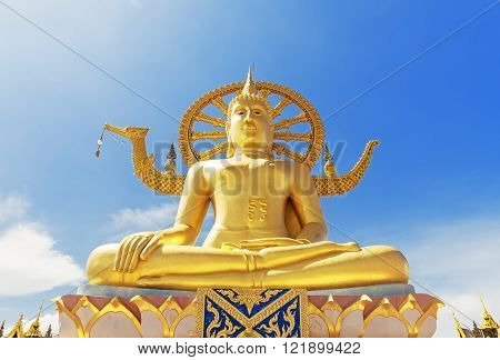 Wat Phra Yai, The Big Buddha Temple At Koh Samui, Thailand