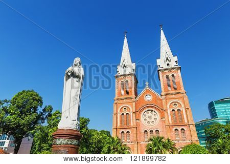 Saigon Notre Dame Cathedral Basilica In Ho Chi Minh City, Vietnam