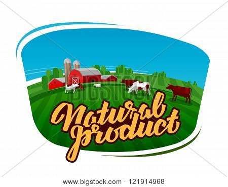 cow milk vector logo. dairy farm, farmer or cattle ranch icon