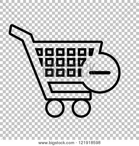 Vector Shopping Remove from Cart Icon