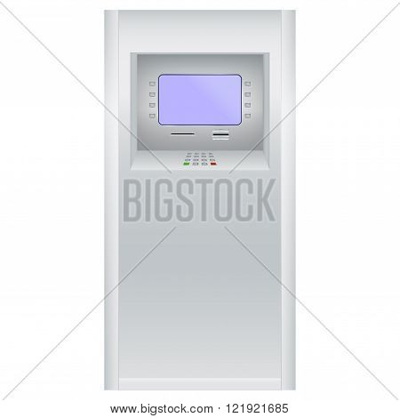 ATM. Bank machine. Automated Teller Machine. Vector illustration isolated on white background