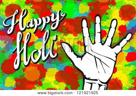 illustration of abstract colorful Happy Holi background art