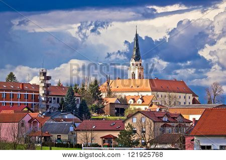 Town of Krizevci cathedral view northern Croatia