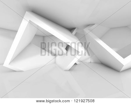 White Room Interior, Chaotic Cubic Structures