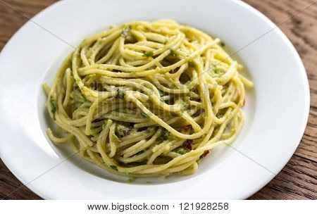 Pasta With Guacamole Sauce