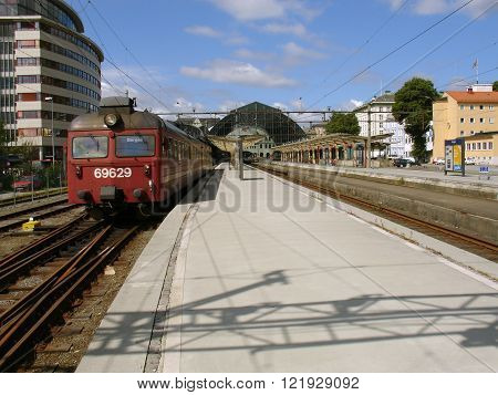 Old electric train.