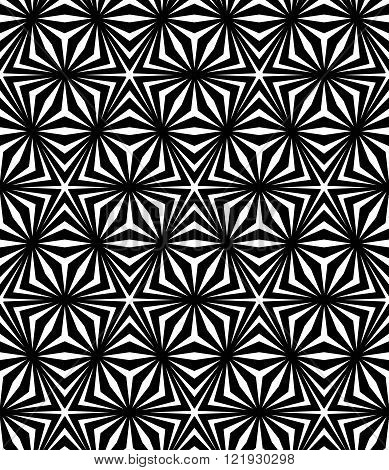 Vector modern seamless sacred geometry pattern trippy black and white abstract geometric background pillow print monochrome retro texture hipster fashion design