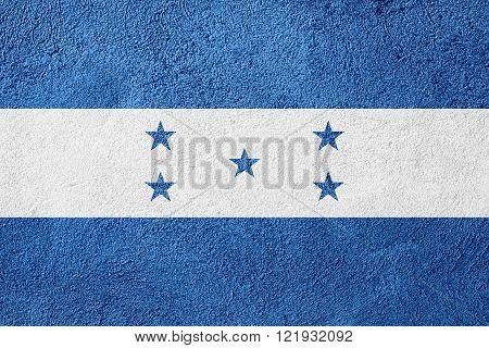 flag of Honduras or Honduran banner on rough pattern background