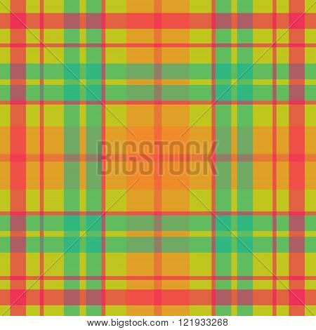Vector seamless scottish tartan pattern in acid colors turquoise green pink purple blue. British or irish celtic design for textile fabric or for wrapping backgrounds wallpaper websites