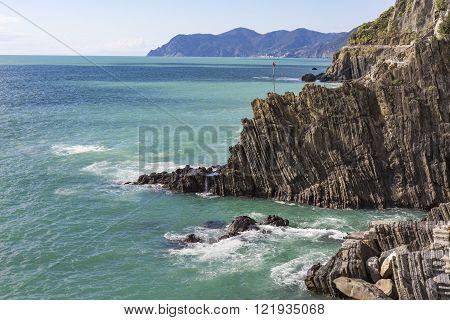 Cliff Above The Sea, Cinque Terre, Italy