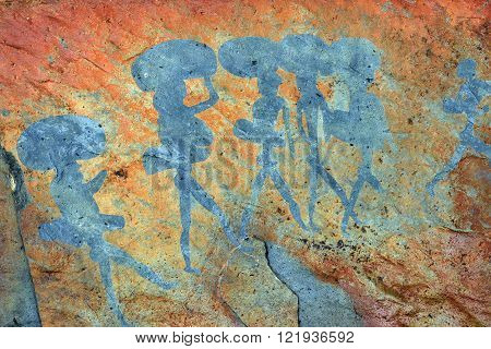Rock paintings of ancient Bushman at Twyfelfontein (Namibia's first World Heritage Site in 2007)