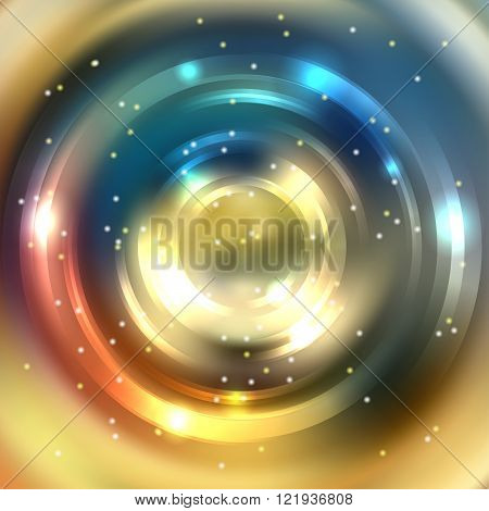 Abstract Background With Luminous Swirling Backdrop. Shiny Swirl Background. Intersection Curves. Ye