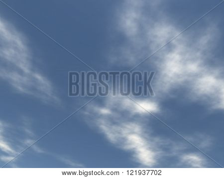 View of the sky with white clouds in blue environment. Without land and objects