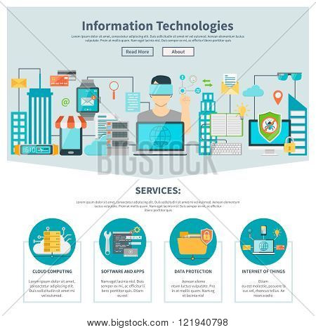 Information Technologies One Page Website