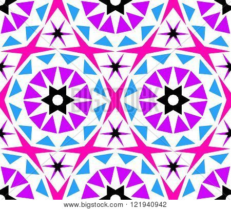 Kaleidoscope Abstract Flower Pattern