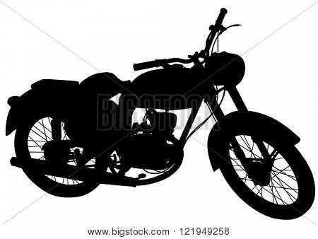Big motor bike on white background
