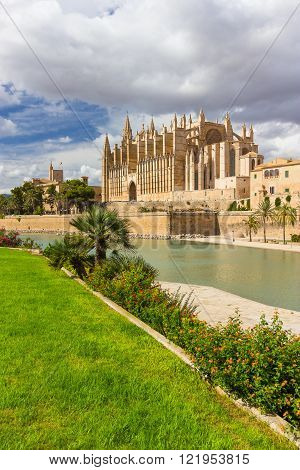 The Cathedral of Santa Maria of Palma de Mallorca La Seu Spain