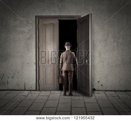 Into the dark room