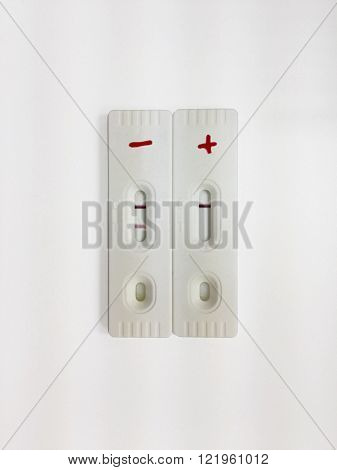 Negative and positive screening test cassette strips for analysis of abused drug in the urine ** Note: Soft Focus at 100%, best at smaller sizes