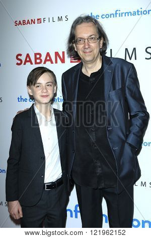 LOS ANGELES - MAR 15: Jaeden Lieberher, Bob Nelson at the premiere of Saban Films' 'The Confirmation' at NeueHaus on March 15, 2016 in Los Angeles, California
