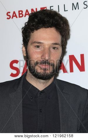 LOS ANGELES - MAR 15: Jonathan Saba at the premiere of Saban Films' 'The Confirmation' at NeueHaus on March 15, 2016 in Los Angeles, California