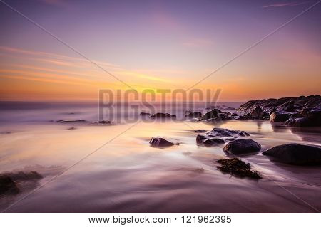 Seascape - Long exposure Sunrise in Australia ** Note: Visible grain at 100%, best at smaller sizes