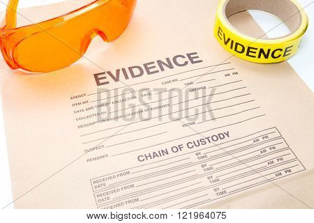 evidence bag and forensic tool for crime scene investigation