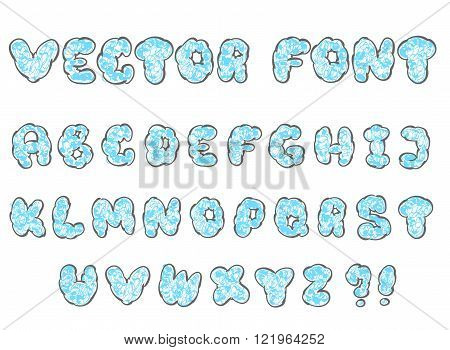 doodle cloud font