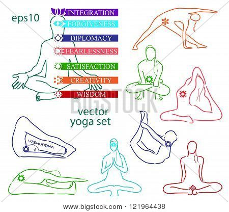Influence of asanas for chakras
