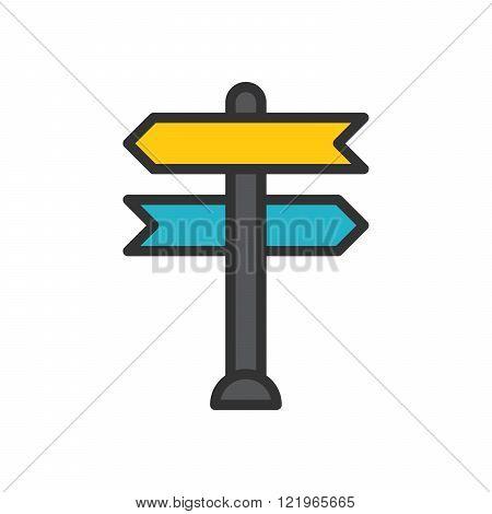 Decision making, vector illustration, outline stroke business icon.