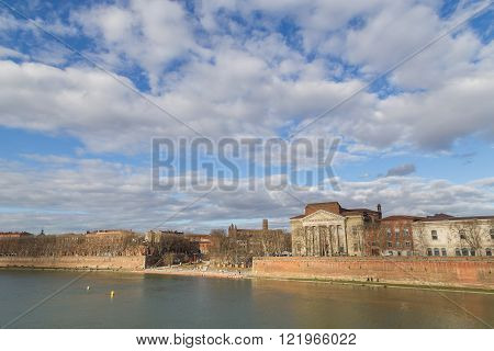 View over Garonne River in Toulouse