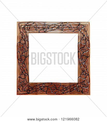 Frame black and brown with abstract print