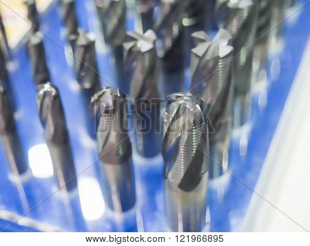 carbide cutting tool for cutting precision part by CNC machining ** Note: Shallow depth of field
