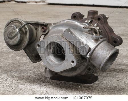Old and used turbocharger engine spare part