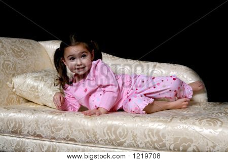 Toddler On The Couch