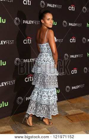 LOS ANGELES - MAR 15:  Kerry Washington at the PaleyFest Los Angeles - Scandal at the Dolby Theater on March 15, 2016 in Los Angeles, CA