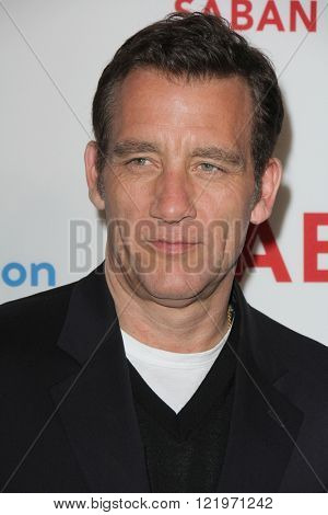 LOS ANGELES - MAR 15:  Clive Owen at the The Confirmation Premeire at the NeueHaus on March 15, 2016 in Los Angeles, CA