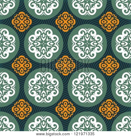 Seamless colorfull abstract ornament pattern vector tile