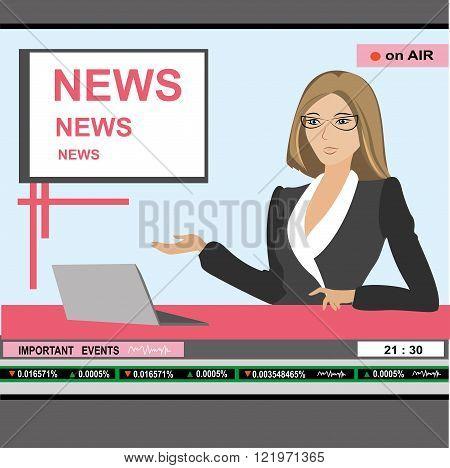 news anchor woman header TV