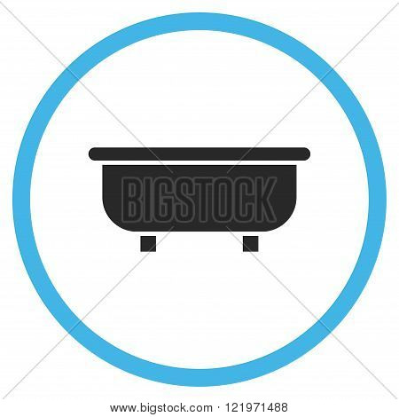 Bathtub Flat Vector Icon