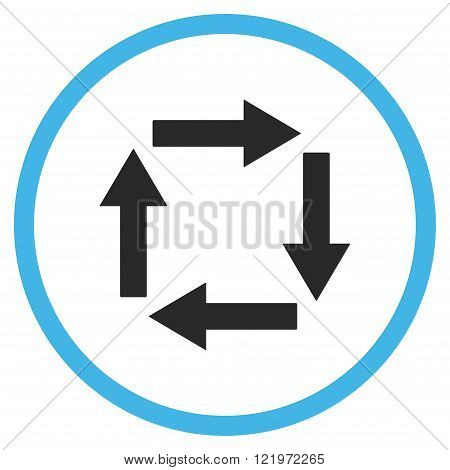 Circulation Arrows Flat Vector Icon