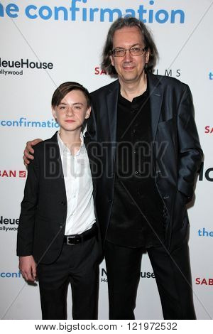 LOS ANGELES - MAR 15:  Jaeden Lieberher, Bob Nelson at the The Confirmation Premeire at the NeueHaus on March 15, 2016 in Los Angeles, CA